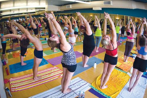 mountain yoga sandy photo