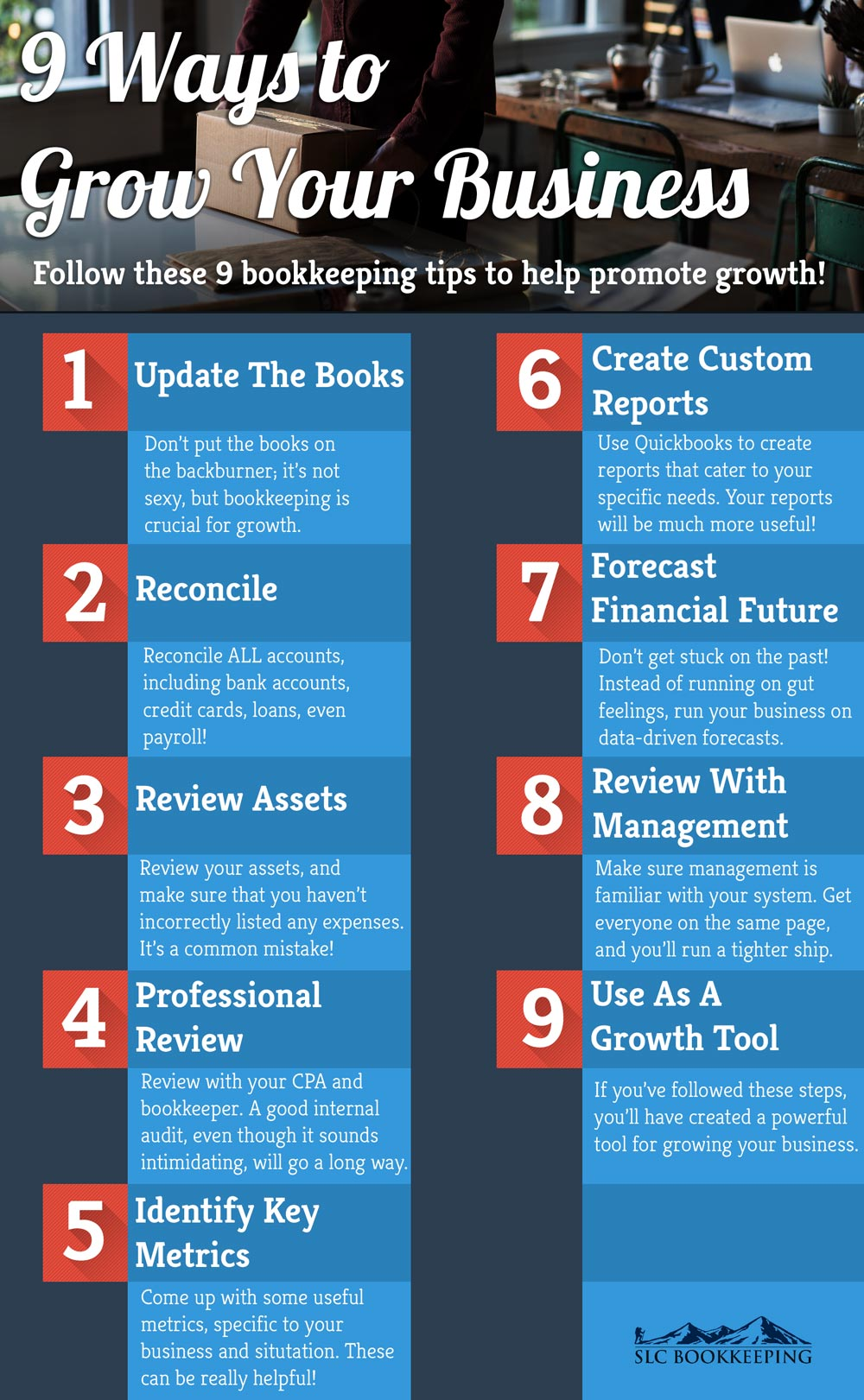 [Infographic] 9 Bookkeeping Tips to Promote Small Business Growth