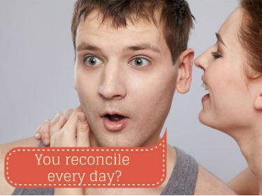 woman speaking in man's ear